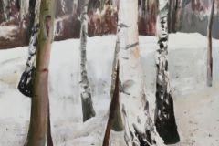 14-Katarzyna-Bukowska-Drzewa-w-lesie-olej-100x75cm