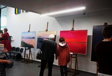 wystawa Pawła podczas otwarcia Mediateki 6.10.2018
